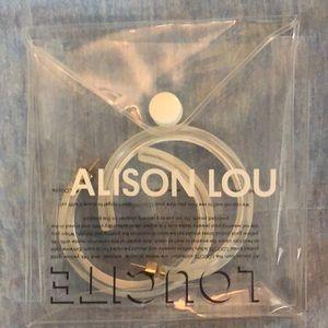 e9ebef7f293db Medium Size White Alison Lou Jelly Hoop Earrings
